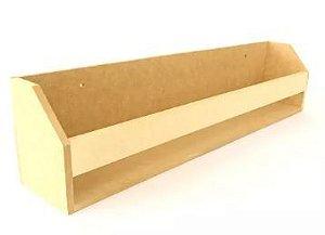 Prateleira MDF Para Livros Condimentos G - 60 x 11 x 13 cm