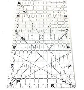 Régua Para Patchwork E Costura Westpress 60x15cm
