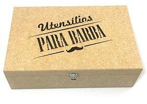 Caixa De Utensílios Para Barba (30x20x8cm) - 4 Divisórias