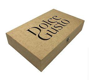 Caixa Porta 15 Capsulas Dolce Gusto Café Mdf Cru