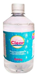 Cola Clear Transparente 500g Slime Artesanato Rendimento