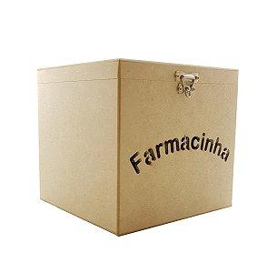 Caixa Farmacinha Primeiros Socorros Mdf Remédio Quarto Bebê