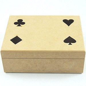Caixa Porta Baralho 2 Divisórias Truco Naipe Poker