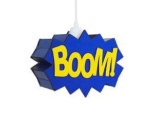 Luminária Suspensa Personalizada Boom Decorativo Pendurar