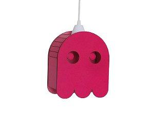 Luminária Suspensa Personali Fantasminha Pacman Decorativo