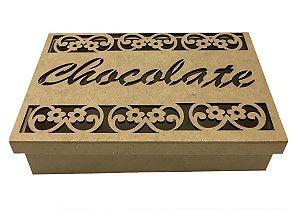 Caixa Em Mdf Chocolate Tampa Solta 25x15x5 Detalhes A Laser