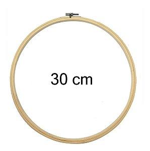 Bastidor Madeira Bambu Com Anel Ajustável Bordado - 30 Cm