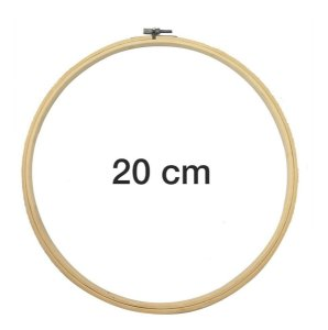 Bastidor Madeira Bambu Com Anel Ajustável Bordado - 20 Cm
