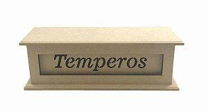 Porta Tempero Mdf Detalhes A Laser Cozinha Condimentos