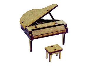 Miniatura Piano de Cauda Com Banco A115