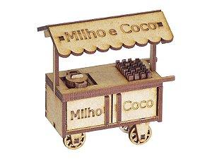 Miniatura Carrinho do Milho e Coco A063