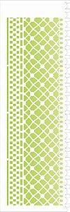 Stencil de Acetato para Pintura OPA Simples 10 x 30 cm Negativo Renda III 2617