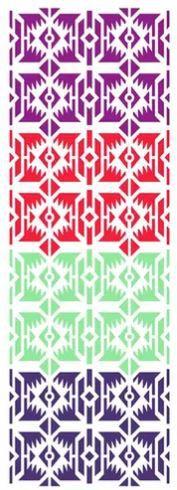 Stencil de Acetato para Pintura OPA Simples  10 x 30 cm - Estamparia Inca 2603