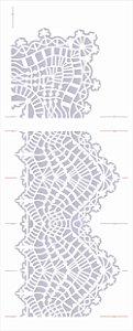 Stencil de Acetato para Pintura OPA Simples 17 x 42 cm - 2627 Renda Com Cantoneira II