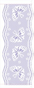 Stencil de Acetato para Pintura OPA Simples 17 x 42 cm - 2624 Negativo Barrado Crochê I