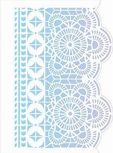 Stencil de Acetato para Pintura OPA Simples  15 x 20 cm - Negativo Renda IV 2622