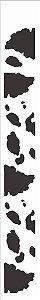 Stencil de Acetato para Pintura OPA Simples  4 x 30 cm - Pele Vaca 354