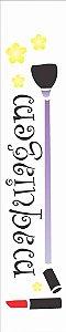 Stencil de Acetato para Pintura OPA Simples 6 x 30 cm - Maquiagem 957
