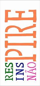 Stencil de Acetato para Pintura OPA Simples 7 x 15 cm - Respirar 2326