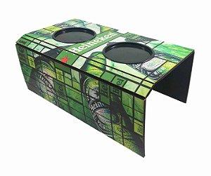 Esteira Porta Copos Braço Sofá MDF Heineken Decoração