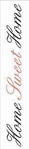 Stencil de Acetato para Pintura OPA Simples 6 x 30 cm - 2662 Home Sweet Home
