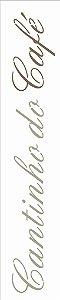 Stencil de Acetato para Pintura OPA Simples 6 x 30 cm - 2661 Cantinho do Café