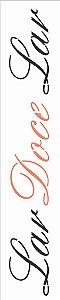 Stencil de Acetato para Pintura OPA Simples 6 x 30 cm - 2665 Frase Lar Doce Lar