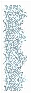 Stencil de Acetato para Pintura OPA Simples 10 x 30 cm - 2684 Renda I