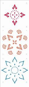 Stencil de Acetato para Pintura OPA Simples 10 x 30 cm - 2672 Mandala I