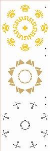 Stencil de Acetato para Pintura OPA Simples 10 x 30 cm - 2673 Mandala II