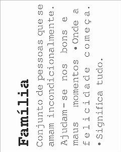 Stencil de Acetato para Pintura OPA Simples 20 x 25 cm - 2724 Frase Significado Família