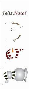 Stencil de Acetato para Pintura OPA 10×30 Simples – Boneco de Neve – OPA 2544