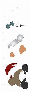 Stencil de Acetato para Pintura OPA 10×30 Simples – Ursinho com Gorro – OPA 2548