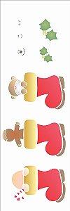 Stencil de Acetato para Pintura OPA 10×30– Botas Natalinas – OPA 1109