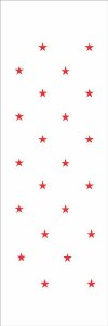 Stencil de Acetato para Pintura OPA 10×30 – Estrelas Pq – OPA 021
