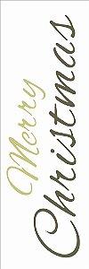 Stencil de Acetato para Pintura OPA 10×30 Simples – Frase Merry Christmas – OPA 2545