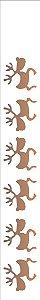 Stencil de Acetato para Pintura OPA 04×30 Simples – Renas – OPA 306