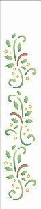 Stencil de Acetato para Pintura OPA 06×30 Simples – Folhas Arabescos – OPA 1104