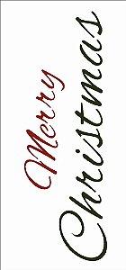 Stencil de Acetato para Pintura OPA 7×15 Simples – Frase Merry Christmas – OPA 2543