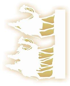 Stencil de Acetato para Pintura OPA 20×25 Simples – Três Reis Magos – OPA 2120
