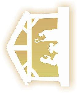 Stencil de Acetato para Pintura OPA 20×25 Simples – Manjedoura – OPA 2118