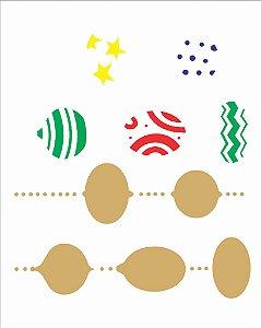 Stencil de Acetato para Pintura OPA 20×25 Simples – Bolas Estampadas – OPA 2311
