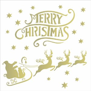 Stencil de Acetato para Pintura OPA 30,5×30,5 Simples – Merry Christmas – OPA 2121