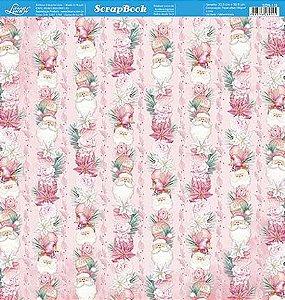 Papel Para Scrapbook Dupla Face 30,5 cm x 30,5 cm - SDN-118 - Scrap Duplo Natal - Natal Shabby Chic