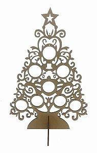 Árvore Natal Bolas MDF Decoração