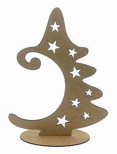 Árvore Natal Para Pendurar 1 Bola a40a MDF Decoração