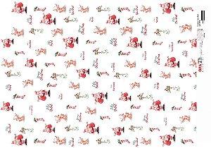 Papel para Decoupage de Natal  OPAPEL 30X45 Estampa Papai Noel – 2540