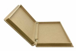 Caixa Livro MDF Grande Dobradiça Metal 37x26