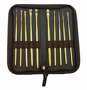 Kit de Pincéis Gold Condor com 10 unidades – Série Limitada Ref 517