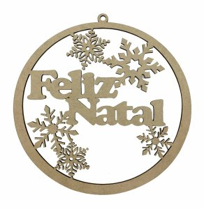 Guirlanda Mandala MDF Feliz Natal 15 cm Decoração
